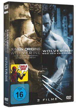 X Men Origins   Wolverine: Wie alles begann + The Wolverine: Weg des Kriegers als DVD für 4,99€ (statt 7€)