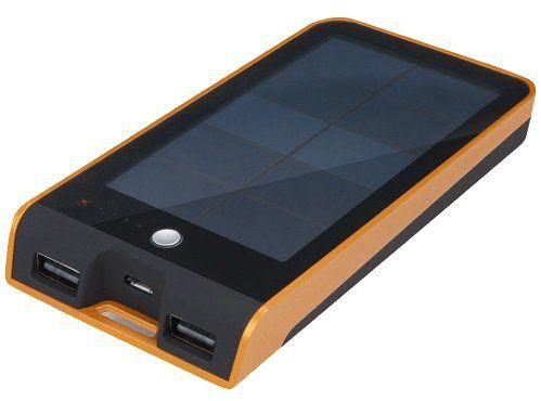 XTORM Basalt Solar Charger mit 3000 mAh Schwarz/Orange für 20€ (statt 31€)