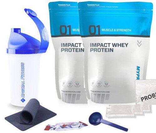 2x Myprotein Impact Whey Protein 1000g + Bonus für 19,79€ (statt 36€)