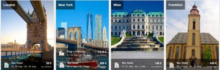 ebookers mit 14% Rabatt auf ausgewählte Hotels bis Mitternacht!