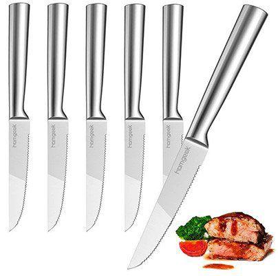 Homgeek   6tlg. Steakmesser Set (13cm, Cromargan) für 13,79€ (statt 23€)