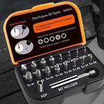 TACKLIFE DSE01 – 18-Teiliger Bitkasten mit Bohrbits, Verlängerungsbit & Adapter für beschädigte Schrauben für 8,99€ (statt 13€)