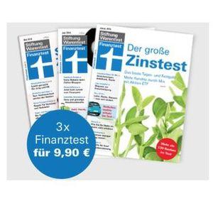 3 Ausgaben Finanztest für 9,90€ + Archiv CD 2017 und 2018 gratis