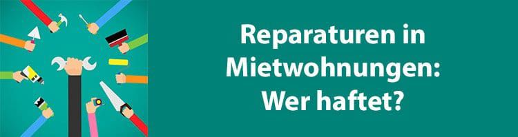 Wer ist für Reparaturen in der Mietwohnung zuständig?