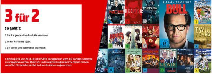Tipp! Media Markt: 3 für 2 auf über 10.000 TV Serien