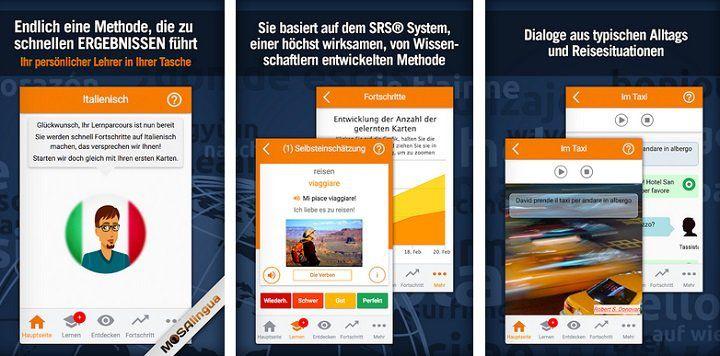 MosaLingua Premium   einfach Italienisch lernen (Android/iOS) kostenlos (statt 5,49€)