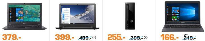 Saturn Late Night Notebook PC Sale: Notebooks ab 166€   PCs ab 255€