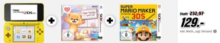 NEW 2DS XL Pikachu Edition + Mein Teddy + Super Mario Maker für 129€ uvm. im Media Markt Dienstag Sale