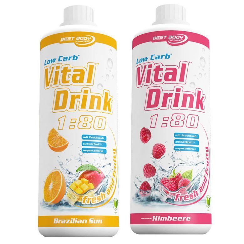 2x Best Body Low Carb Vital Drink (1000ml) Getränkesirup für 14,99€ (statt 20€)