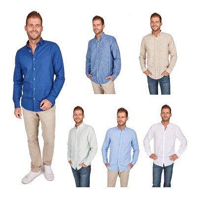 Jan Paulsen Herren Leinenhemden (Buttondown, regular fit) für 34,90€