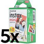 5x Fujifilm Instax Mini Instant Film für 100 Bilder für 55,99€ (statt 71€)