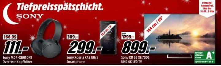 Media Markt SONY Tiefpreisspätschicht   günstige TV & Audio, Smartphones, Foto & Zubehör