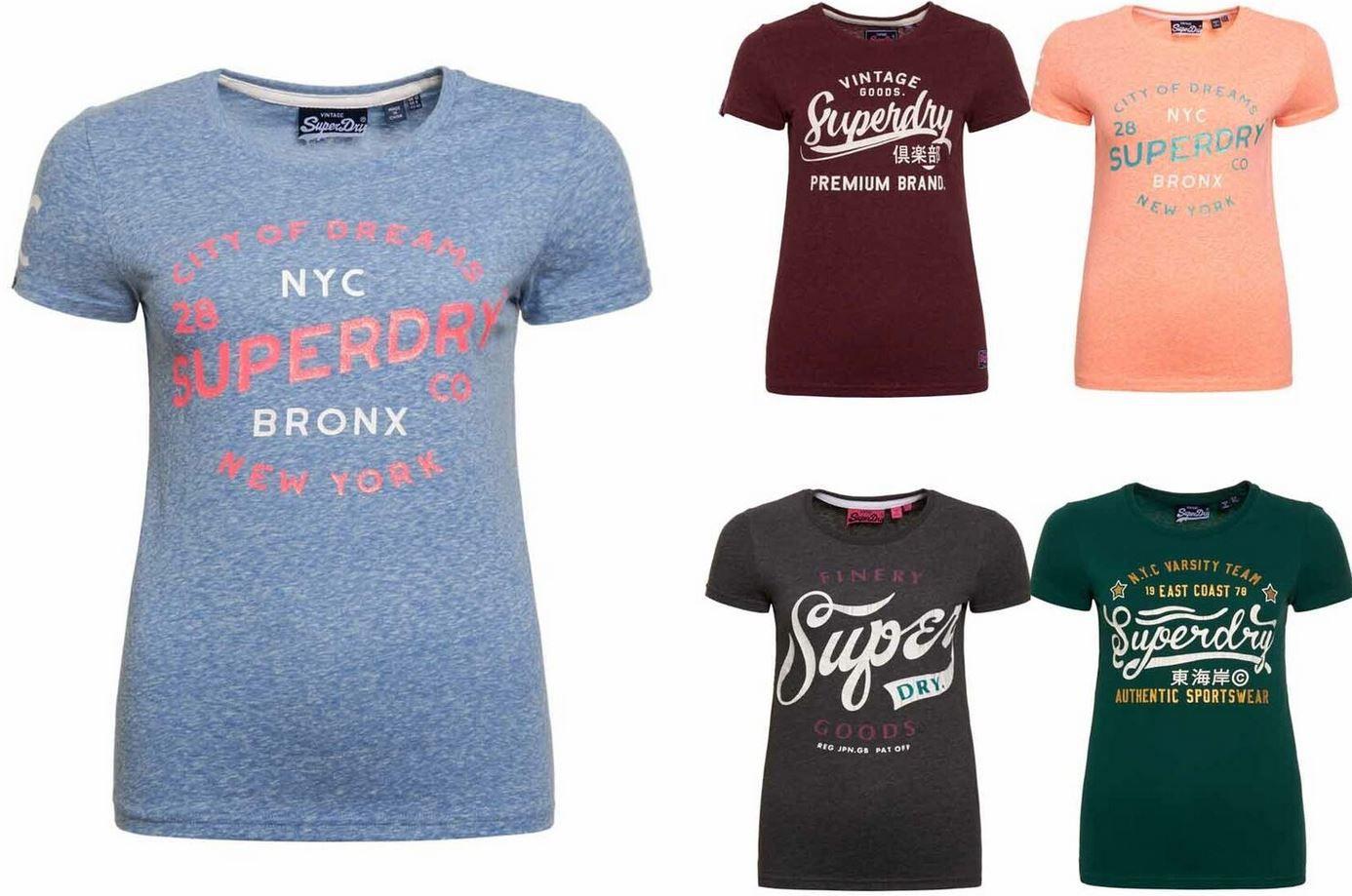 detailed look b03ca 54c93 Superdry Damen T-Shirts - 20 Modelle bis XL für je 11,95€