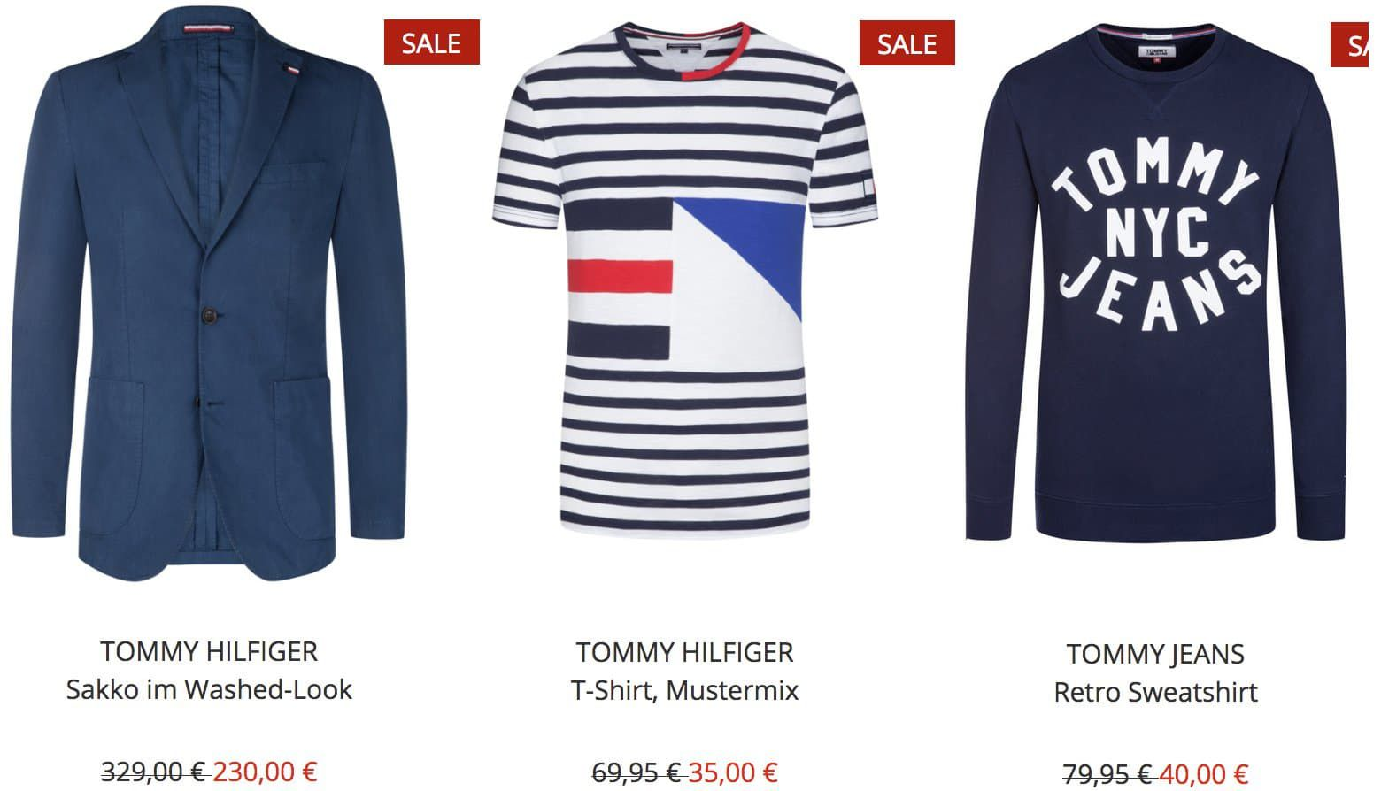 TOP! Hirmer: Tommy Hilfiger Sale bis 50% Rabatt   z.B. Poloshirts ab 35€