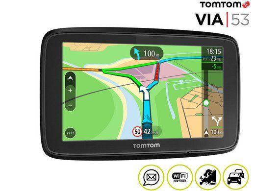 TomTom Via 53    5 Zoll Navi, 42 EU Länder für 125,90€ (statt 139€)