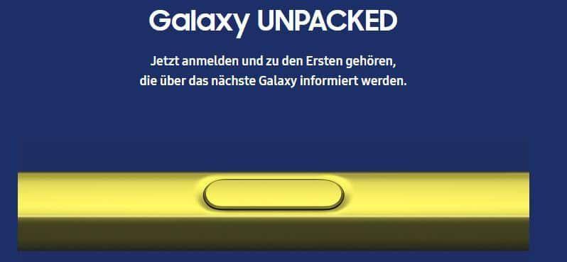 NEWS: Samsung Galaxy Note 9   Design, Hardware und S Pen
