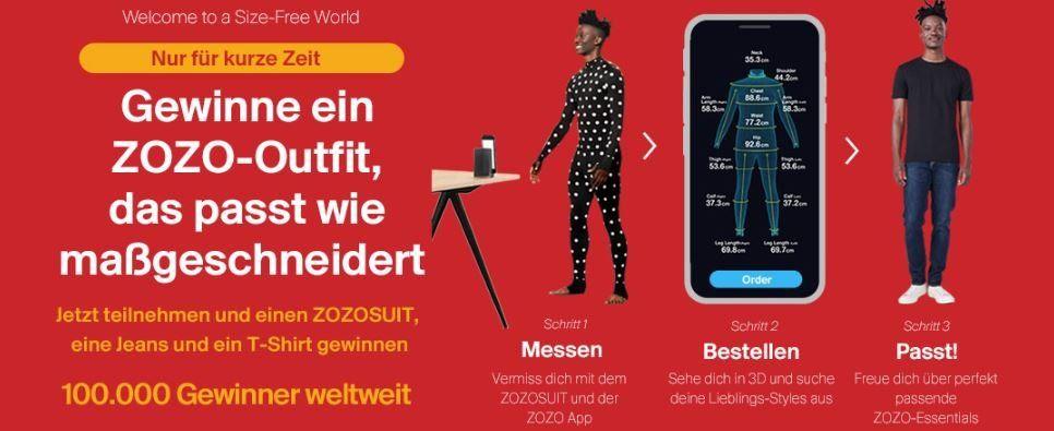NEWS: Mit ZOZO durch Smartphone Scan ohne Kleidergrößen Klamotten shoppen