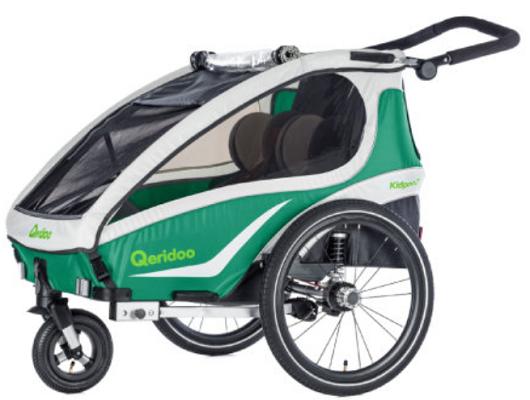QERIDOO KidGoo2 Fahrradanhänger für 373,09€ (statt 402€)   2 Sitzer für Kinder