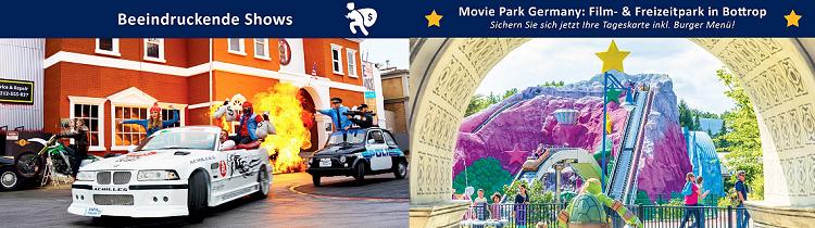 Tageskarte für den Movie Park für 29€ inkl. Burger Menü (statt 35€)