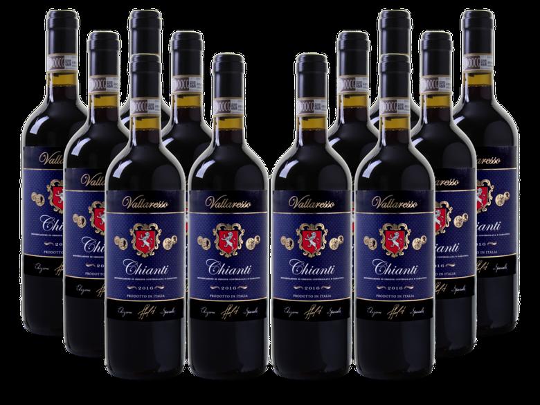 12er Paket Vallaresso   Chianti DOCG (2016) für 49,92€