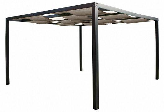 Leco Alu Pergola Loft 360x360cm Terrassen Überdachung in grün und grau für 399€ (statt 455€)