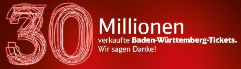 6€ Gutschein für Baden Württemberg Ticket der DB