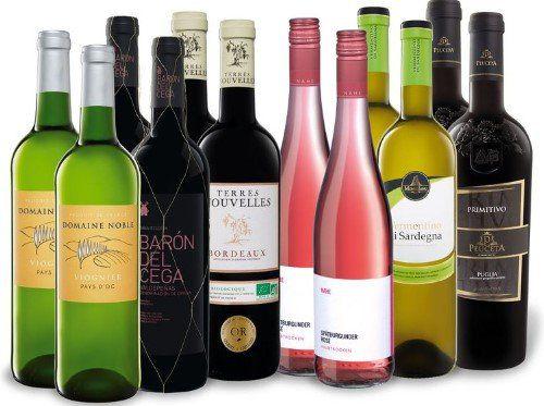 LIDL: 12 x 0,75 l Flasche Weinpaket Grillen für 29,90€ (statt 56€)