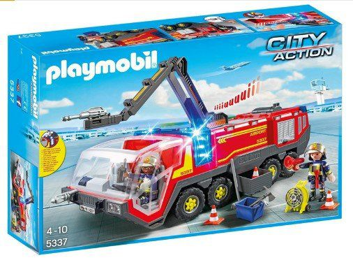 PLAYMOBIL 5337   Flughafenlöschfahrzeug mit Licht und Sound ab 32,99€ (statt 46€)