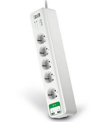 APC PM5U GR Essential SurgeArrest 5 fach (2x USB) Steckdosenleiste für 14,99€ (statt 20€)