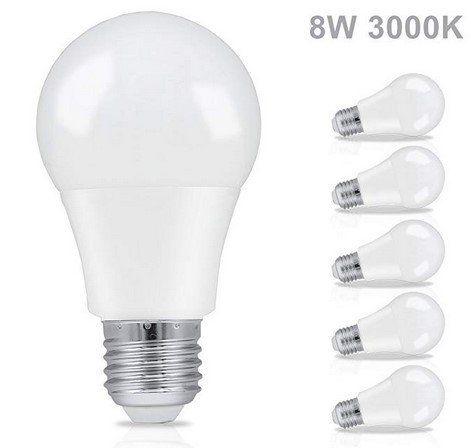 6er Set LED Glühbirnen von HENGDA  (E27/E14) in verschiedenen Ausführungen ab 3,90€   Prime