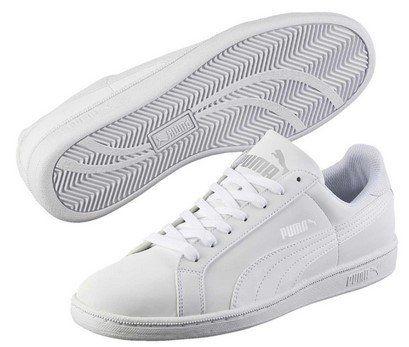 Puma Smash Buck Sneaker in Weiß für 22,80€ (statt 28€)   nur 44.5, 46, 47 & 48.5!