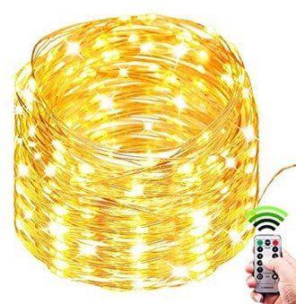 10m Lichterkette mit Fernbedienung & 100 LEDs für 8,99€ (statt 11€)   Prime