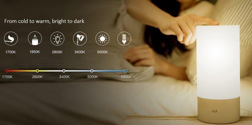 Xiaomi Mijia MJCTD01YL Yeelight Tischlampe mit OSRAM RGBW LEDs für 41,74€