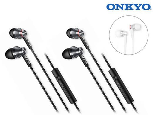 2x Onkyo E300M In Ear Kopfhörer für 29,95€ (statt 70€)