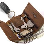 BestFire Schlüsseletui aus Leder mit vielen Taschen für 7,84€ (statt 16€) – Primer