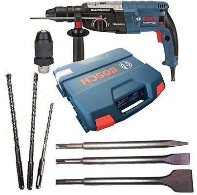 Bosch Bohrhammer GBH 2 28 F mit Koffer & Wechselfutter sowie 3 Bohrer & 3 Meißel für 179,95€ (statt ~205€)