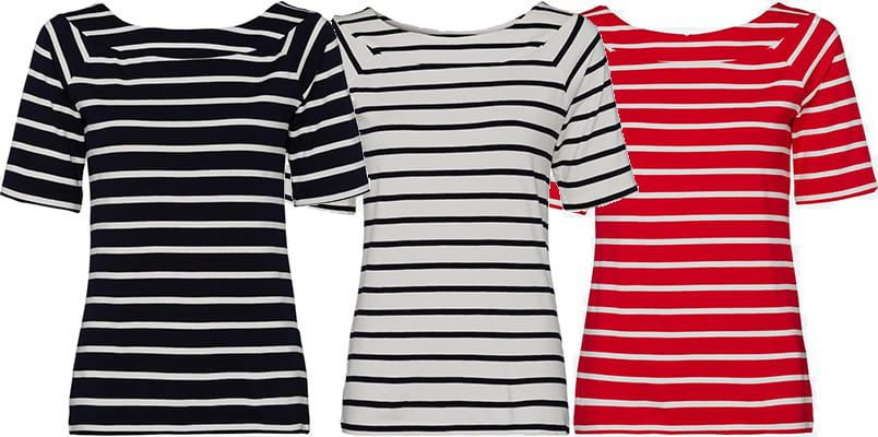More & More Damen Ringelshirt in 3 Farben für je nur 9€ (statt 24€)