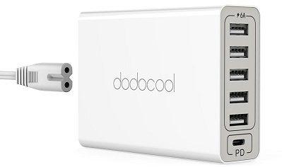 dodocool USB Ladegerät mit 6 USB Ports für 13,99€ (statt 20€)