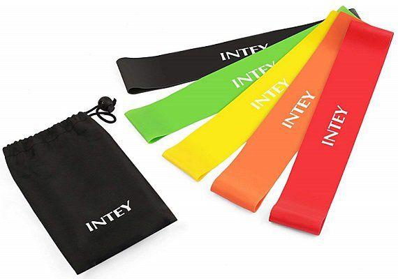 INTEY Fitnessbänder Set mit 5 verschiedenen Stärken für 5,99€ (statt 9€)