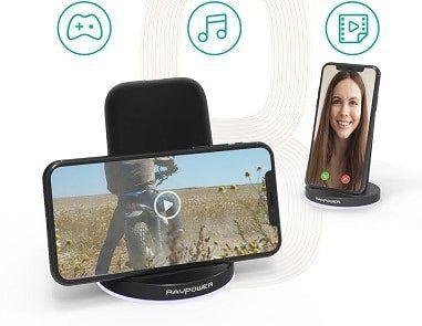 RAVPower Fast Wireless Charger mit Qi Technologie für 12,99€ (statt 18€)