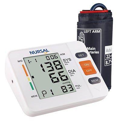 NURSAL   Oberarm Blutdruckmessgerät mit WHO Anzeige & großem Display für 2 Nutzer für 15,99€ (statt 20€)