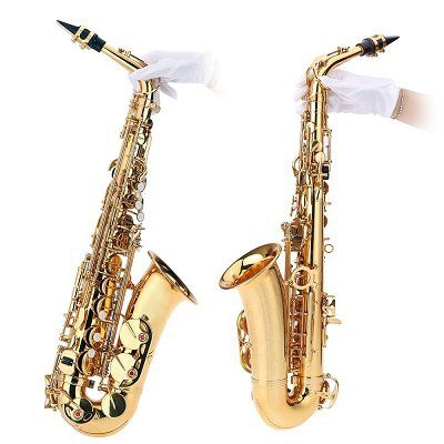 ammoon Alt Saxophon mit Reinigungsbürste & Stoffhandschuhen für 172,49€ (statt 231€)