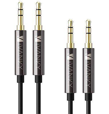 2er Pack Aux Kabel (IVANKY AC 01) je 1,2m für 2,99€   Prime!