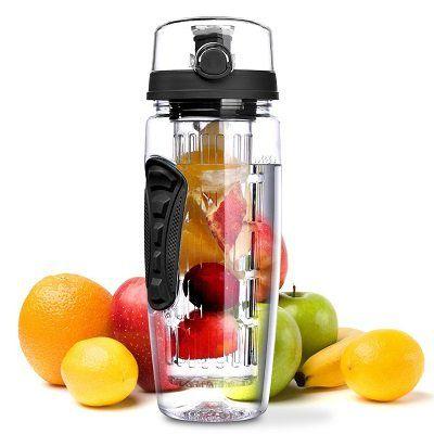 BPA freie Trinkflasche mit Fruchteinsatz für 6,99€