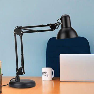 Lighting EVER Schreibtischlampe (klemm  & schwenkbar) für 13,99€ (statt 18€)