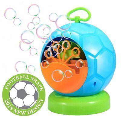 Geekper Seifenblasenmaschine im Fussballdesign für 12,72€ (statt 17€)