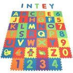 INTEY Puzzlematte mit Buchstaben, Zahlen & Tieren für 19,79€ (statt 33€)
