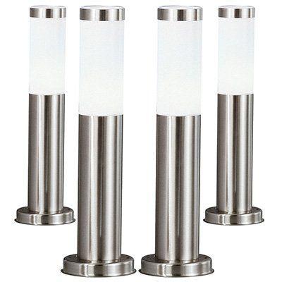 4er Set Außenstehleuchten aus Edelstahl für 49,99€