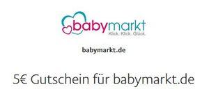 5€ PayPal Gutschein ohne MBW bei Babymarkt