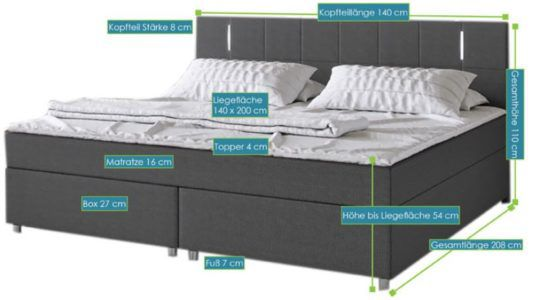 ArtLife Cleveland Boxspringbett bis 180x200cm für je 404,10€ (statt 549€)